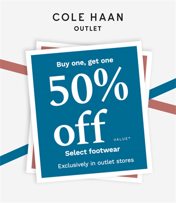 Buy One, Get One 50% off Footwear! - Tanger Outlets | Hilton Head